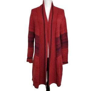 Cabi Joy Red Long Cardigan Sweater Coat M